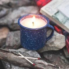 Learn how to make this cute Candle In a Camp Mug!