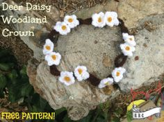 Deer Daisy Woodland Crown | Raising Robertsons Crochet