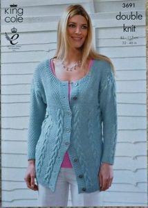 K3688 Ladies Scoop Neck Easy Knit Jumper by KnittingPatterns4U ...