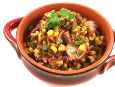 Roasted Corn & Poblano Chili with Chipotle Seitan - Sweet Earth Enlightened Foods Vegan Chipotle, Chipotle Chili, Vegan Chili, Poblano Chili, Dog Food Recipes, Vegetarian Recipes, Roasted Corn, Seitan, Vegan Butter