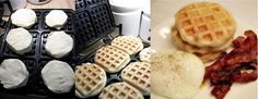 Biscuits in the waffle maker...that's right... BISCUITS!