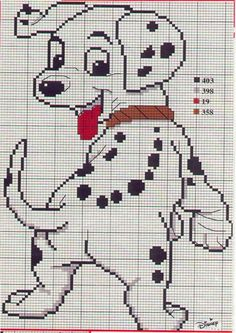Disney 101 Dalmatians mixed Cross Stitch chart by TinyWeeTinks, £2.00