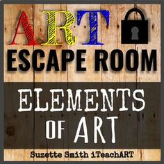 I added a second escape room to my TpT store if you missed it. This one covers the Elements of Art and my first escape room covers copyrights and plagiarism. High School Art, Middle School Art, Art Education Resources, Teacher Resources, Art Handouts, Art Worksheets, Virtual Art, Art Curriculum, Principles Of Design