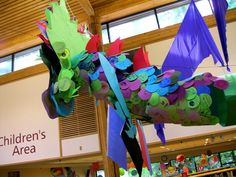 Library Display Dragon for 'Dream Big, Read!'