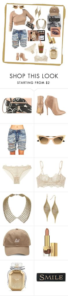 """Cuz My Hair Looks Like This"" by gigiglow ❤ liked on Polyvore featuring Valentino, Steve Madden, Christian Roth, I.D. SARRIERI, INC International Concepts, Mary Kay, Estée Lauder, Victoria's Secret, DutchCrafters and gold"