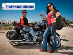 Cruise Excursions, Cozumel, Puns, Harley Davidson, Motorcycle, Island, Travel, Clean Puns, Block Island