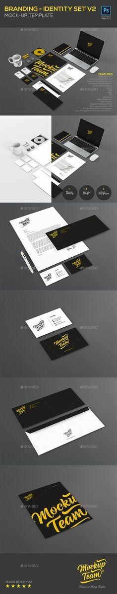 Branding - identity Set V2 - #Product #Mock-Ups #Graphics Download here: https://graphicriver.net/item/branding-identity-set-v2/17871545?ref=alena994
