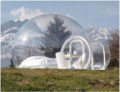 Transparent Camping Tent - Am I missing something here? If you're going to camp in nature, and want to SEE it, couldn't you just sleep in the fresh air? WHY the plastic bubble?!