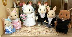 Wedding Celebration Amelia Periwinkle, bridesmaid; Louise Periwinkle, bridesmaid; Catherine Chocolate, bride; William Chocolate, groom; James Periwinkle, page boy; Kevin Waters, reverend