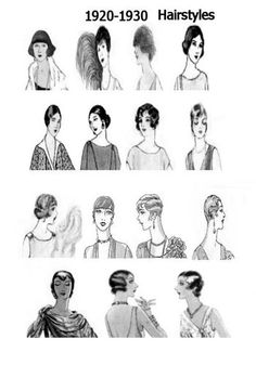 """Vintage Hairstyles Hairstyles - By Emily Swift Do you glam ladies need some ideas on how to rock the adorable Great Gatsby hair styles? (especially for you MODA gals preparing for the """"Copacetic Couture"""" fashion show) Check out … Great Gatsby Hairstyles, Vintage Hairstyles, Flapper Hairstyles, Ladies Hairstyles, Fashion Hairstyles, Hairstyle Ideas, Louise Brooks, Retro Updo, Retro Hair"""