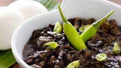 Filipino Food Recipe – Dinuguan - also known lovingly as CHOCOLATE MEAT but no chocolate is added, but there is always an exception.  Want to know what makes it the chocolate look? reply to me and I'll answer back :))