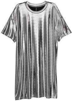 H&M Coated T-shirt Dress