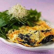 Lasagne med spenat och grädde