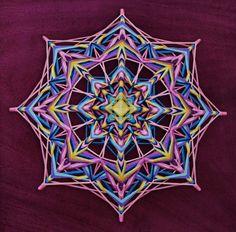 Fantasy, yarn mandala ~ Ojo de Dios, 20 inches (50 cm), 8-sided, wall hanging