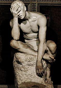 Pain. Emilio Gallori. Italian 1846-1924. marble.... - QUEST FOR BEAUTY