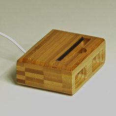 Speaker dock for iPhone 5 in Bamboo.