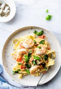 Bruschetta, Fish Recipes, Food Inspiration, Italian Recipes, Pasta Scampi, Risotto, Spaghetti, Food Porn, Favorite Recipes