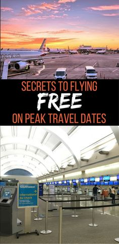 Fly free on peak travel dates: Learn the frequent flyer mile tricks, tips, and hacks to flying free or cheap, even on peak weekends and holidays.