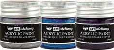 NEW from Finnabair: Art Alchemy Acrylic Paint!! Artist quality paint that's creamy and super rich - easy to apply. http://www.scrapbooking-warehouse.com/finnabair-art-alchemy-acrylic-paint.html