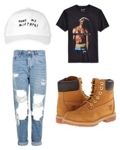 """""""🖤"""" by rileyamour on Polyvore featuring Topshop, Timberland and October's Very Own"""