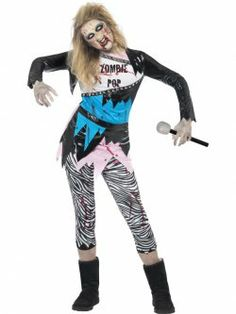 Zombie Pop Star Costume at funnfrolic.co.uk - £21.59