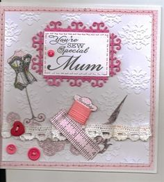 """""""Sewing card for Mum"""""""