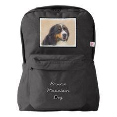 #Bernese Mountain Dog Backpack - #bernese #mountain #dog #puppy #dog #dogs #pet #pets #cute #bernesemountaindog