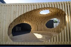 Architect Creates Digitally Sculpted Timber Pavilion