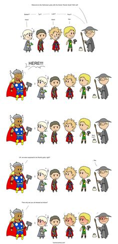 nordic halloween by human. I suppose Thor has been quite Americanized in franchise...