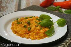 Risoto de Tomates com Pimentão Vermelho - Veganana