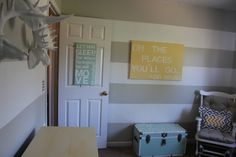 mint and yellow nursery http://birminghambell.com/2013/03/23/welcome-to-our-new-nursery