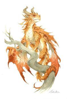 Watercolor Dragon 3 by Sandara Tang : AdorableDragons