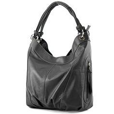 modamoda de - ital. Handtasche Damentasche Schultertasche Ledertasche Tasche Nappaleder Z18, Präzise Farbe:Anthrazitgrau - http://herrentaschenkaufen.de/modamoda-de-made-in-italy/anthrazitgrau-modamoda-de-ital-handtasche-z18