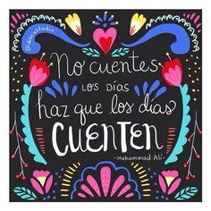 """""""No cuentes los días haz que los días cuenten""""  Feliz comienzo de semana! #Motivación #Inspiración #MModaVenezuela"""