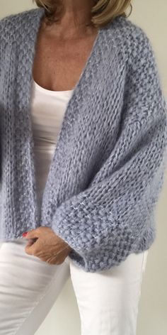 Superbe veste doudou tricot femme pour grands froids✿‿Woollies For Winte r⁀✿ Spring, Summer Or Fall. Sweater Knitting Patterns, Cardigan Pattern, Crochet Cardigan, Knit Patterns, Baby Knitting, Knit Crochet, Crochet Hats, Beige Cardigan, Knitwear Fashion