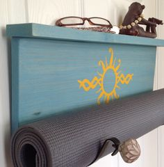 A personal favorite from my Etsy shop https://www.etsy.com/listing/269126179/blue-yoga-handmade-blue-yoga-mat-holder