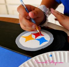 cc193ed9d Here s a How to paint a Pittsburgh Steelers Football Ceiling Fan on the  blog at Concordcottage