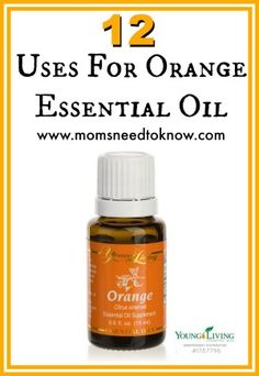 12 Ways to Use Orange Essential Oils - From cleaning to relieving stress, orange oil is very versatile! (You Are My Favorite Essential Oils) Essential Oils 101, Orange Essential Oil, Essential Oil Blends, Young Living Oils, Young Living Essential Oils, Citrus Oil, Aromatherapy Oils, Aromatherapy Recipes, Yl Oils
