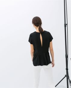 TOP WITH OPENING AT THE BACK - Shirts - WOMAN | ZARA United States