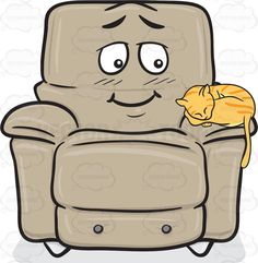 Sleeping Cat On A Blushing Stuffed Chair Emoji #accent #bashful #blushing #bulky #cinemachair #comfort #comfortable #foam #furniture #lazyboy #leatherchair #lightbrown #livingroom #moviechair #puffy #recliner #reclinerchair #recliningchair #shy #soft #softness #softy #stuffedchair #upholstered #upholstery #vector #clipart #stock