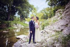 Beautiful bride and groom photo on Salado Creek in Texas | Shelly Taylor Photography | wedding portrait