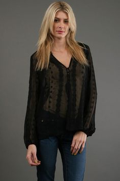 The Peasant Blouse in Black by Zoa at CoutureCandy.com