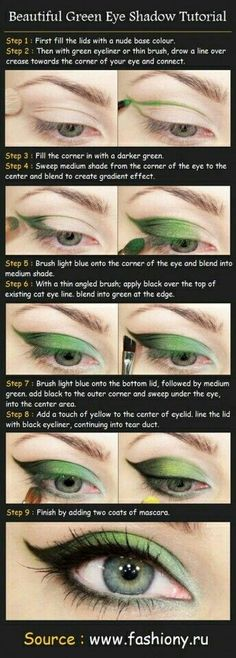 Green shadow Have you seen the new promotion Real Techniques brushes makeup -$10 http://youtu.be/Ekd8siFfdNA #realtechniques #realtechniquesbrushes #makeup #makeupbrushes #makeupartist