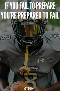 If you fail to prepare, you're prepared to fail. #FootballQuotes #SportQuotes #Motivation #Inspiration #Football #Nxtrnd #Training Football Spirit, Dog Football, Football Is Life, Baseball, Football Motivation, Athlete Motivation, Sport Motivation, Famous Athlete Quotes, Motivational Quotes For Athletes