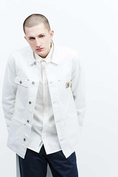 Carhartt Michigan Coat White Spring Summer 2015 The Michigan jacket by workwear label Carhartt blends contemporary style with classic workwear, creating a durable piece with urban appeal.
