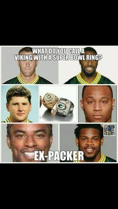 """Ha Ha!!!! I thought it was going to say """"A thief"""" but """"ex-Packer"""" is better!"""