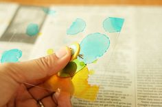 alcohol ink tutorial by Kaori Wantabe for Crate Paper