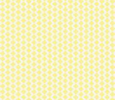 Quatrefoil Mini Print Yellow and White fabric by katie_schlomann on Spoonflower - custom fabric