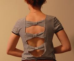 Cute summer top. For over bathing suits? #diy