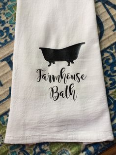 Farmhouse Bath Flour Sack Hand Towel Bathroom Towels Custom Designed by TheFarmhouseShoppeCo
